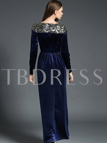 Sequins Velvet Women's Maxi Dress