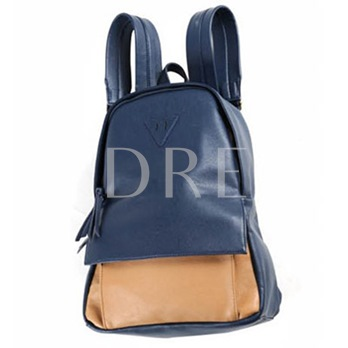 Korean Style Color Block Backpack