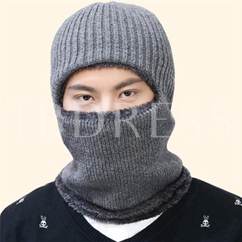 Plus Velvet Warm Knitted Korean Cold-Resistance Men's Hats