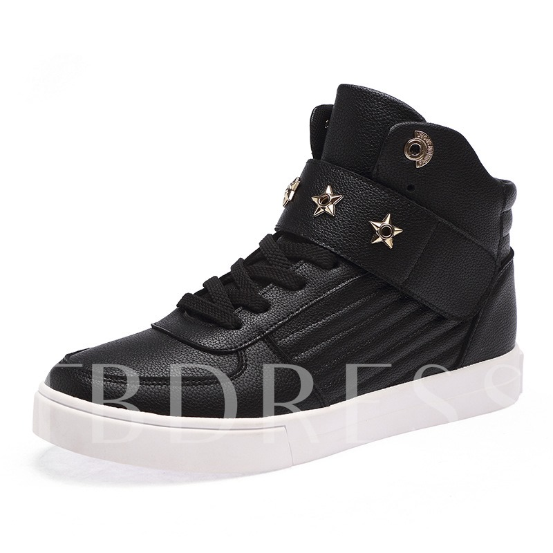 Lace Up Star Shaped Rivet Men's Shoes