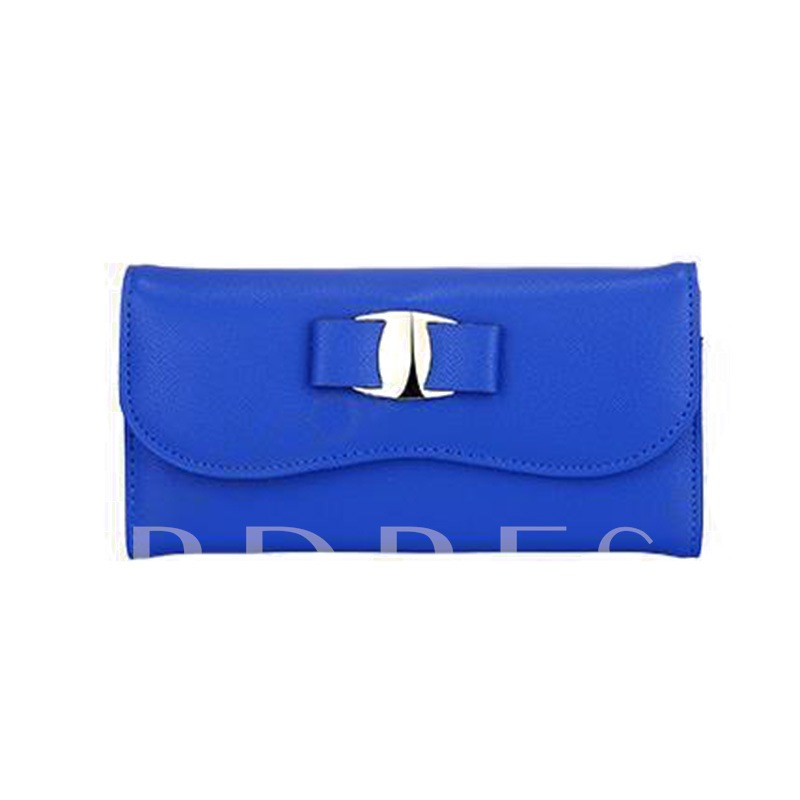 Concise Solid Color Women Purse