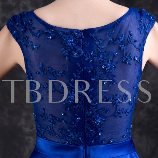 A-Line Appliques Beading Sashes High Low Homecoming Dress