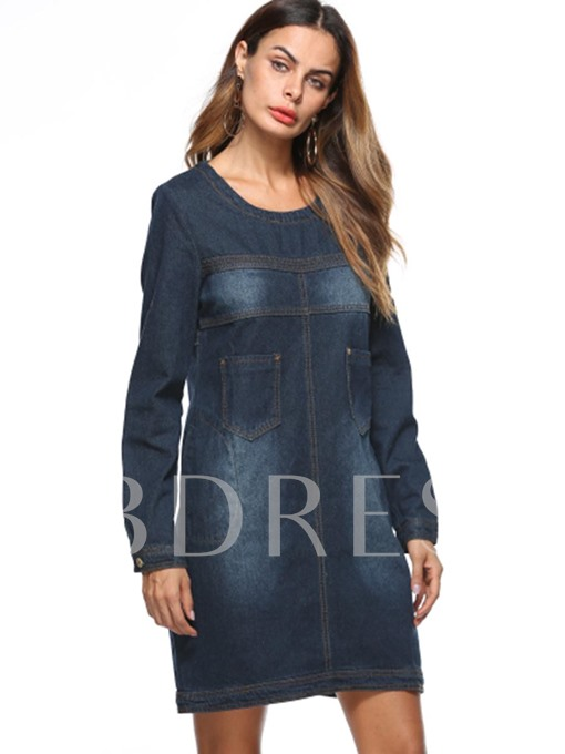 Denim Pockets Women's Day Dress
