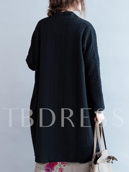 Thick Single-breasted Loose Women's Cardigan