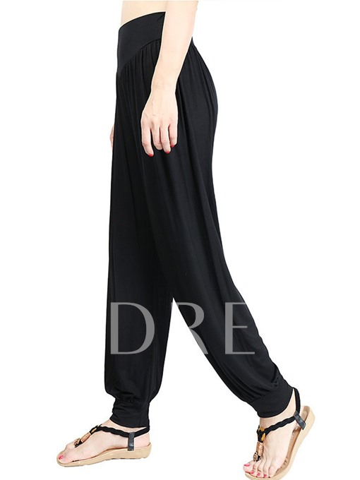 Loose Elastic Pleated Women's Yoga Pants