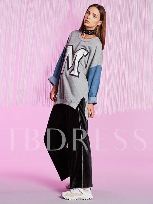 Color Block Double-Layer Pullover Women's Hoodie