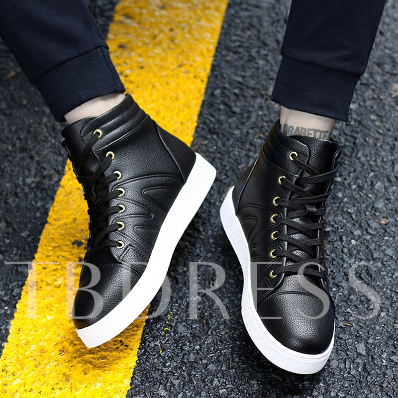 Solid Shoes Lace Up Men's Skaters