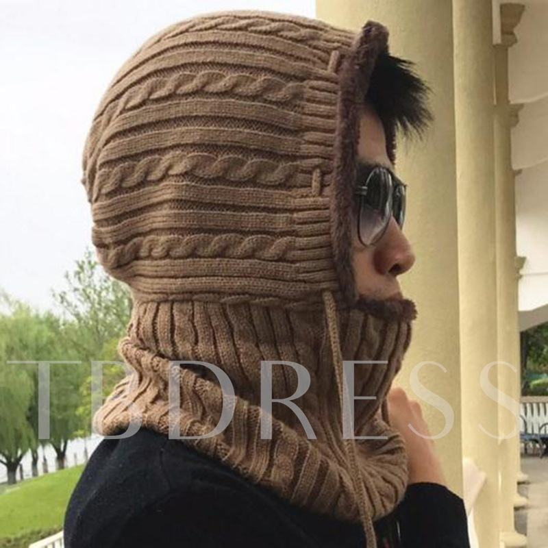 Knitted Outdoor All Matched Muffle&Men's Hats