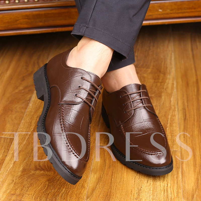 Waffle Pattern Solid Men's Professional Shoes