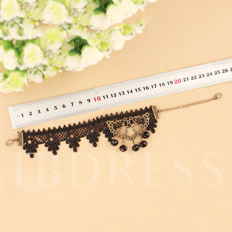 Rhinestone Lace Hollow Out Anklet