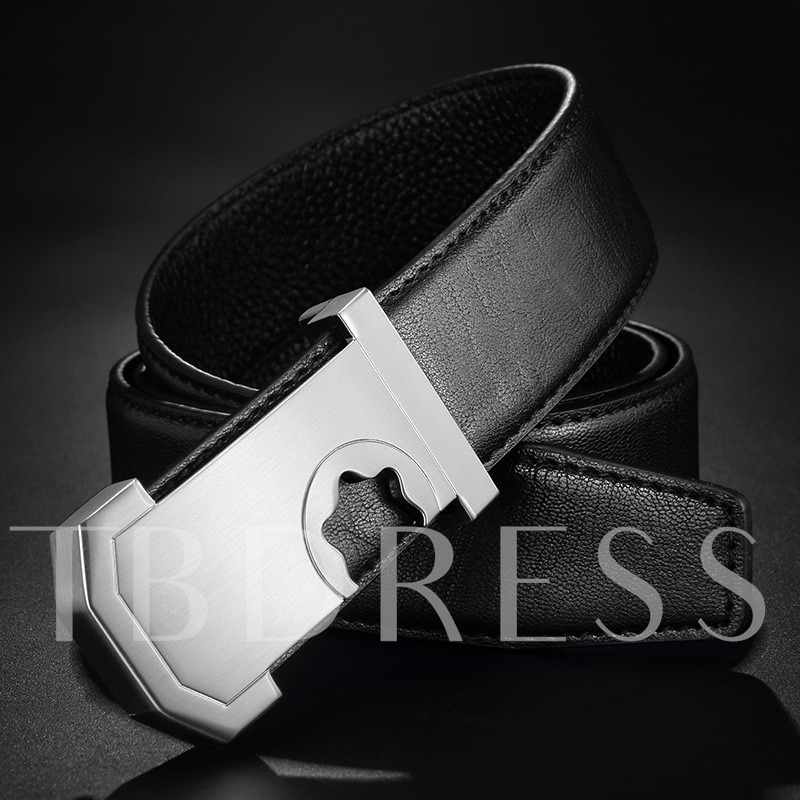 Smooth Buckle Alloy Brush Off Unique Men's Belts