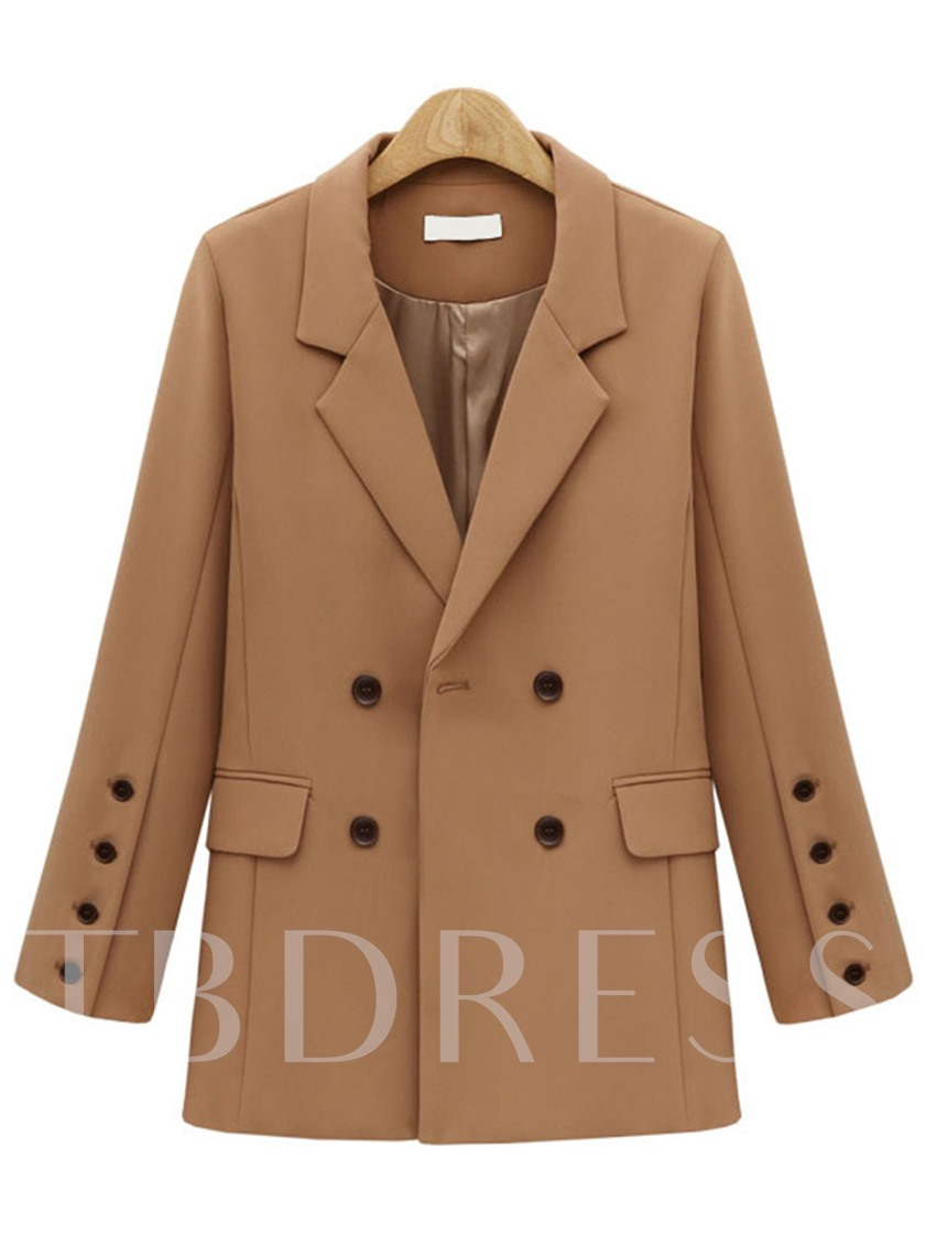 Double-Breasted Mid-Length Women's Blazer