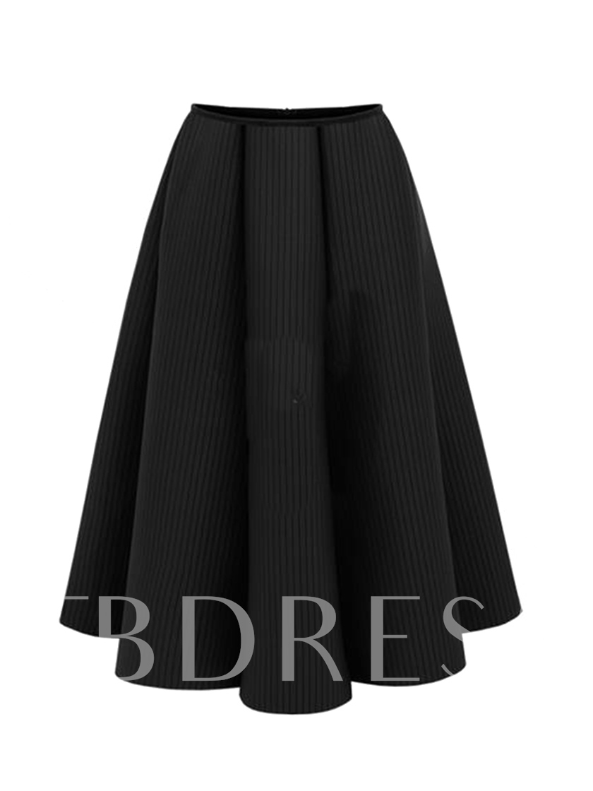 High-Waist Expansion Mid-Calf Women's Skirt