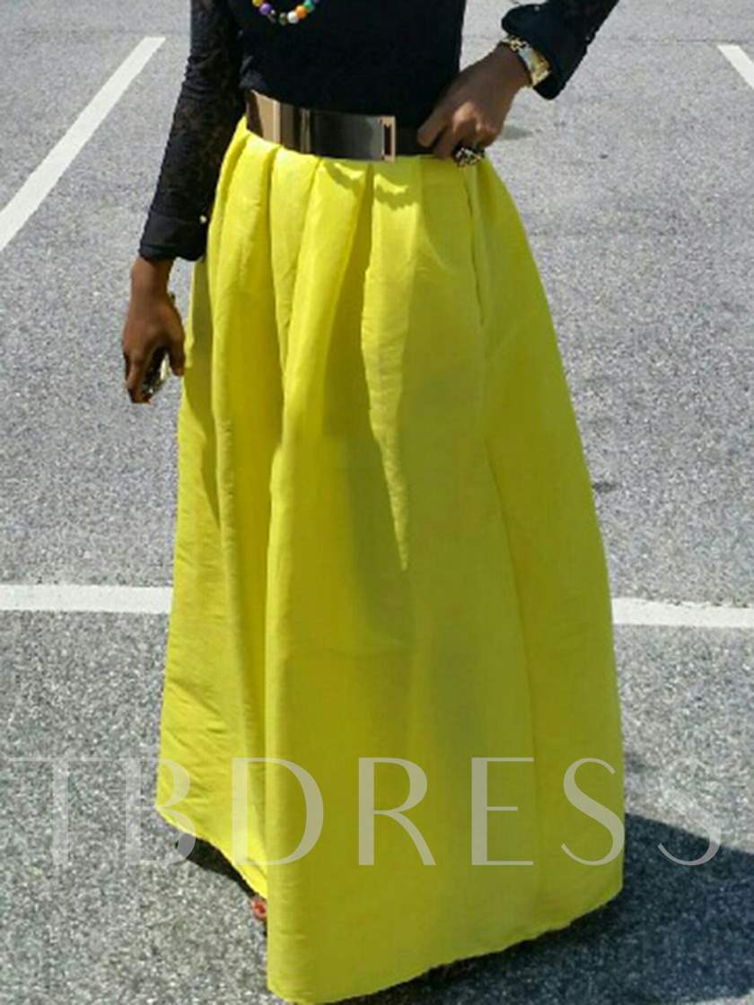 Pleated Expansion Pocket Women's Maxi Skirt