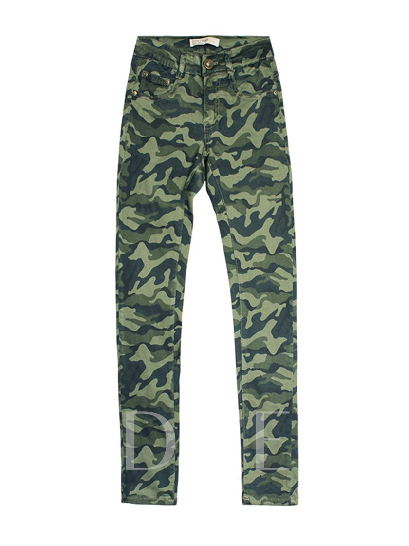 Slim Camouflage Pocket Women's Leggings