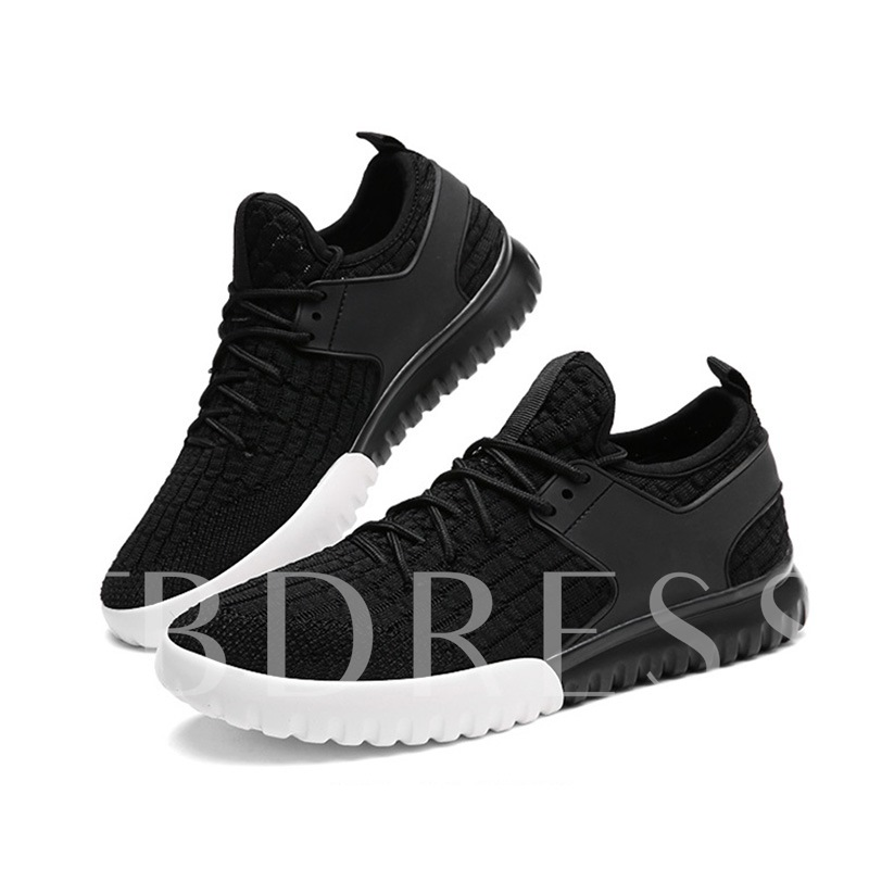 Cloth Lace Up Patchwork Men's Sneakers