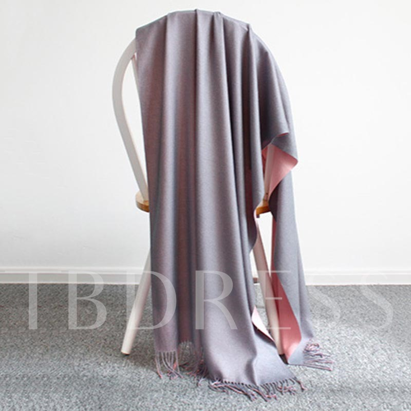 Tassel Double-Faced Imitated Cashmere Scarfs