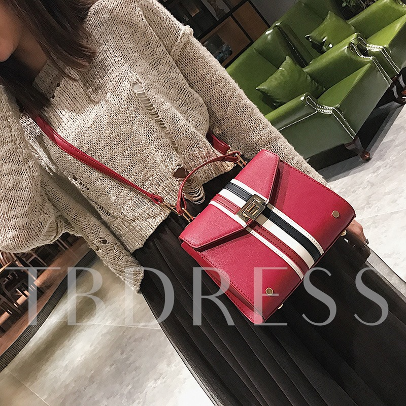 Well-Match Classic Stripe Kelly Tote Bag