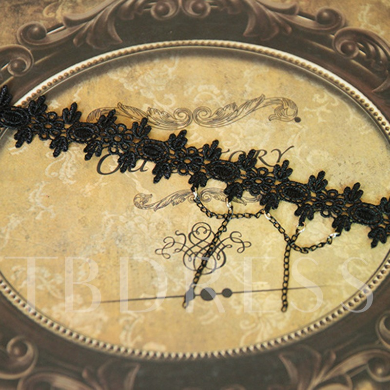 Lace Hollow Out Alloy Gothic Anklet