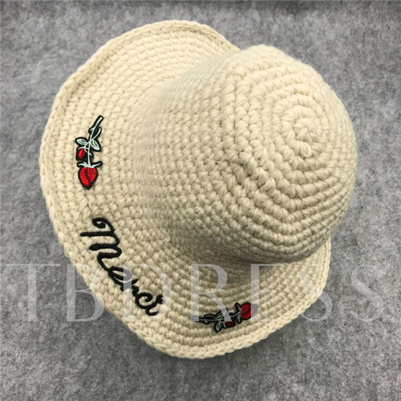 Printing Patch Embroidered Plain Knitted Hats