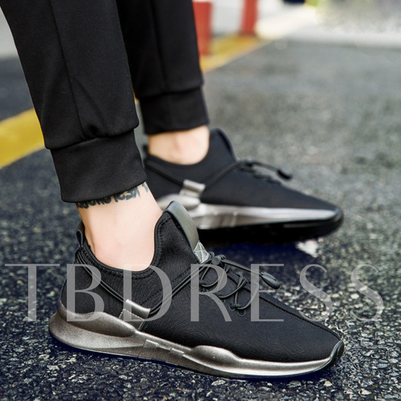 Black Shoes for Men Elastic Band Sneakers