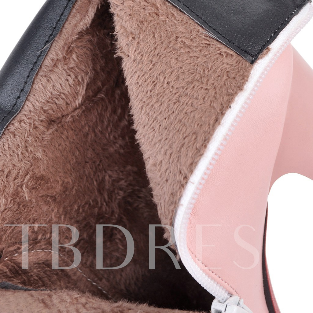 Heart Shaped Chunky Heel Women's Ankle Boots Platform Shoes