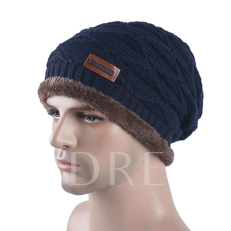 Plus Velvet Wool Orlon Winter Outdoor Men's Hats