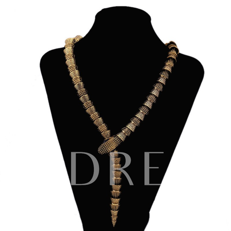Alloy Snake Eyes Jewelry Hyperbole Vintage Necklace