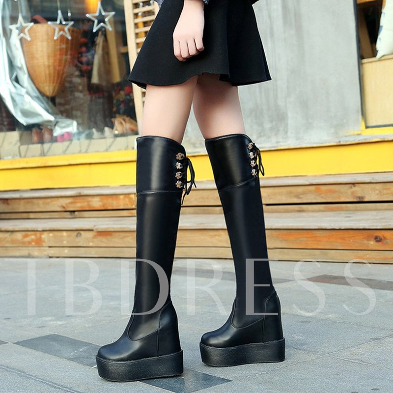 Fringe Height Increasing Platform Boots Women's Shoes