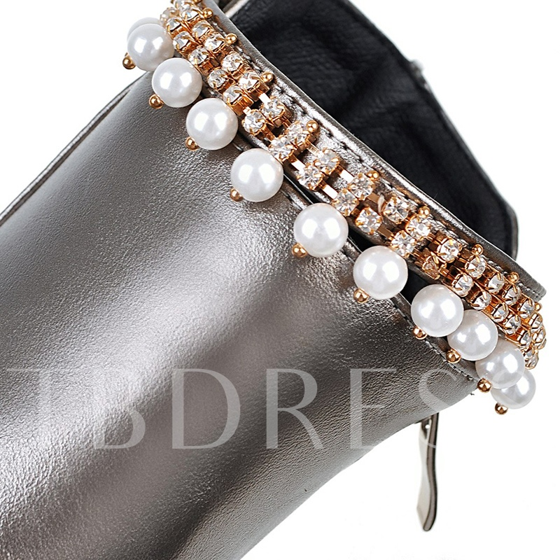High Heel Chain Beads Purfle Women's Platform Shoes