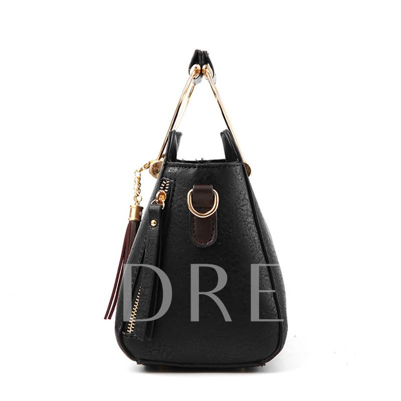 Concise Delicate Pendant Zipper Tote Bag