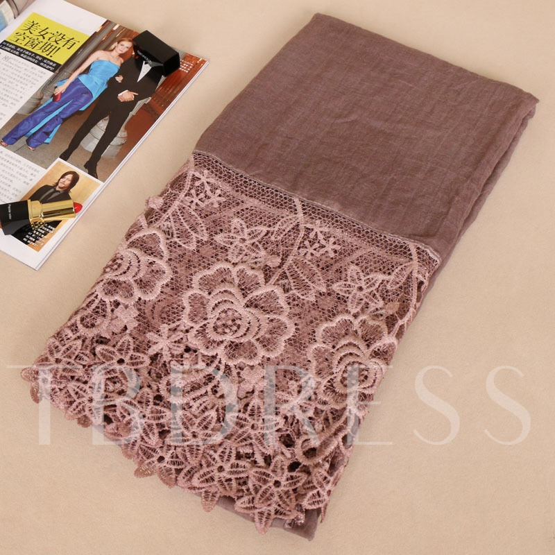 Rose Tie-Dye Hollow Cotton Embroidery Scarfs