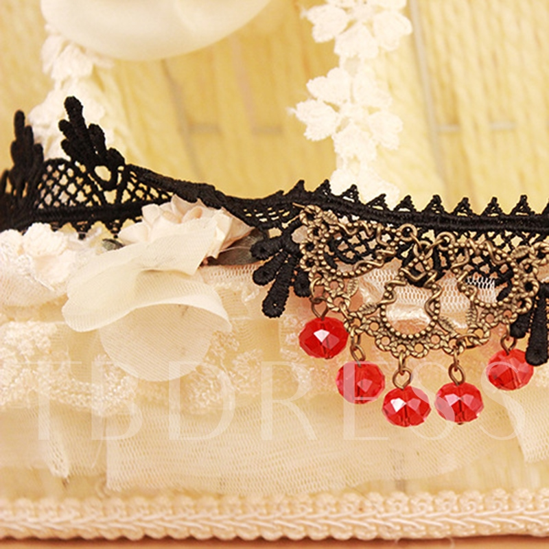 Linnk Chain Lace Rhinestone Anklet