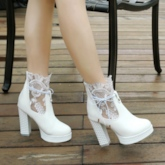 Lace Platform Wedding Shoes for Bridal