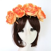 Artificial Peony Rosette Solid Color Hair Accessories
