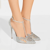 Plus Size Shoes Sliver Women's High Heel Pumps