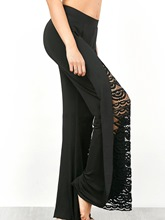 High Waist Lace Patchwork Women's Bellbottoms