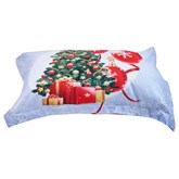 Designer Christmas Santa Claus Duvet Cover Set 4 Piece Bedding Set