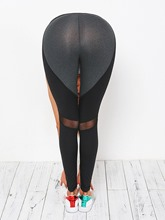 Anti-Sweat Heart-Shaped Full Length Women's Yoga & Running Leggings
