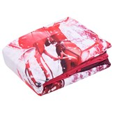 Christmas Printed Cotton 4-Piece 3D White Bedding Sets/Duvet Covers