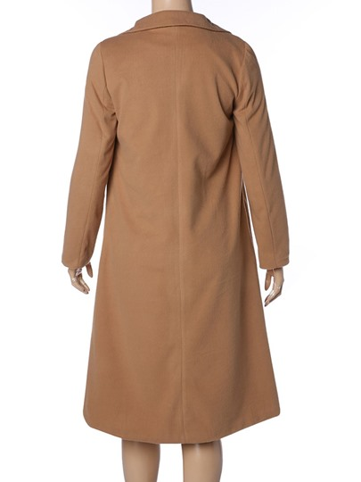 Lapel Long Thin Women's Trench Coat