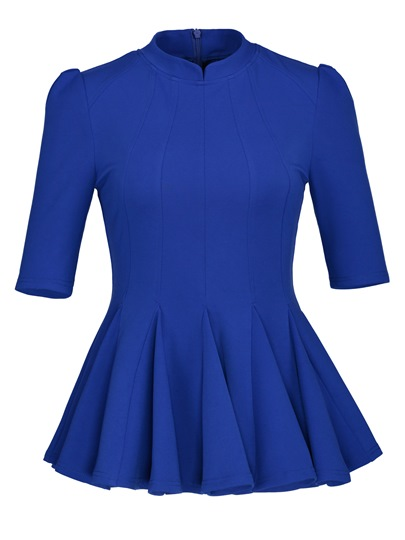 Slim Short Peplum Women's Blouse
