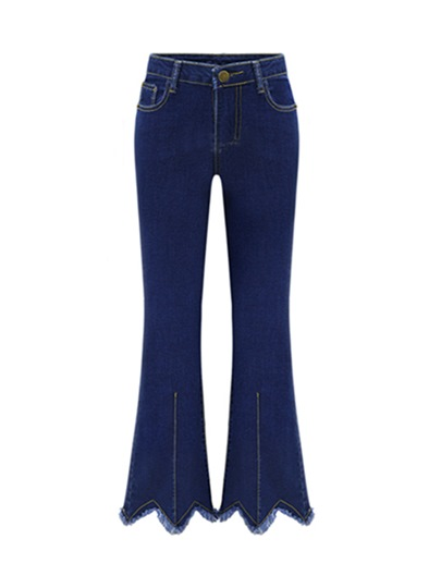 Slim Plus Size High Waisted Bellbottoms Women's Jeans