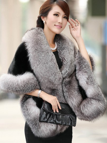 Faux Fur Thick Women's Winter Overcoat