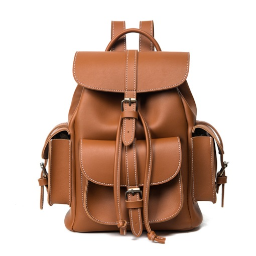 Casual Huge Space Solid Color Backpack