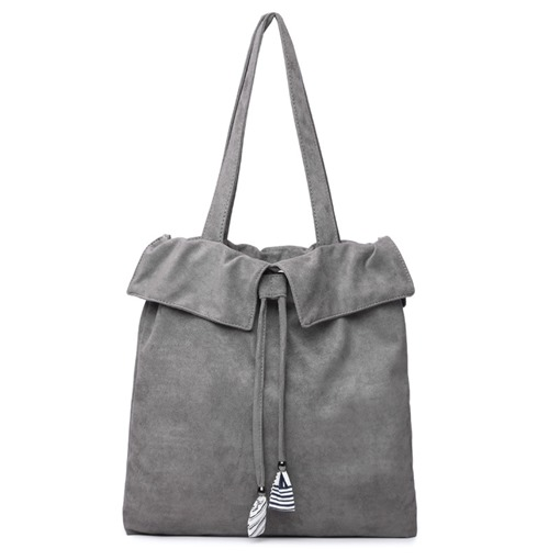Concise Solid Color Flannelette Shoulder Bag