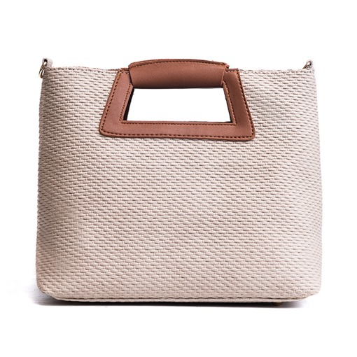 Vintage Knitted Zipper Women Tote