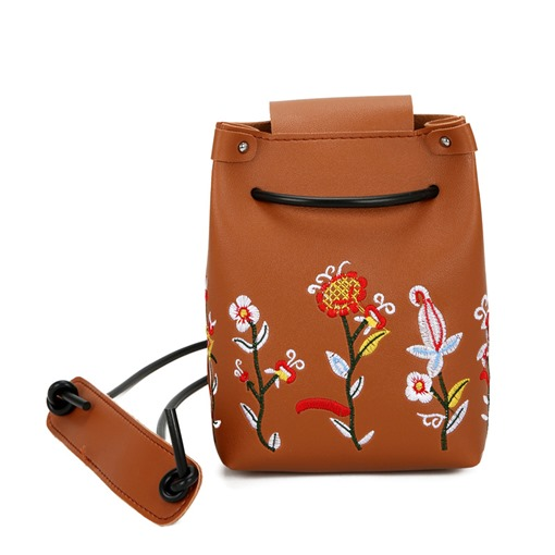 Casual Floral Embroidery Soft PU Cross Body