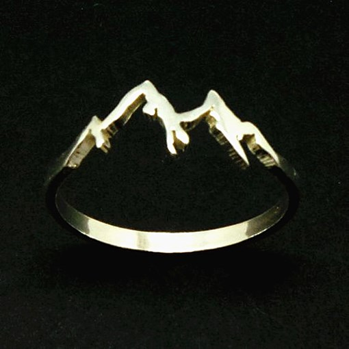 Mountain Shape Unisex 925 Silver Titanium Rings Gifts