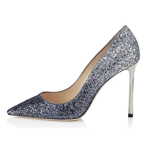 Plus Size Shoes Glitter Gradient Color Sequin Women's Dress Shoes